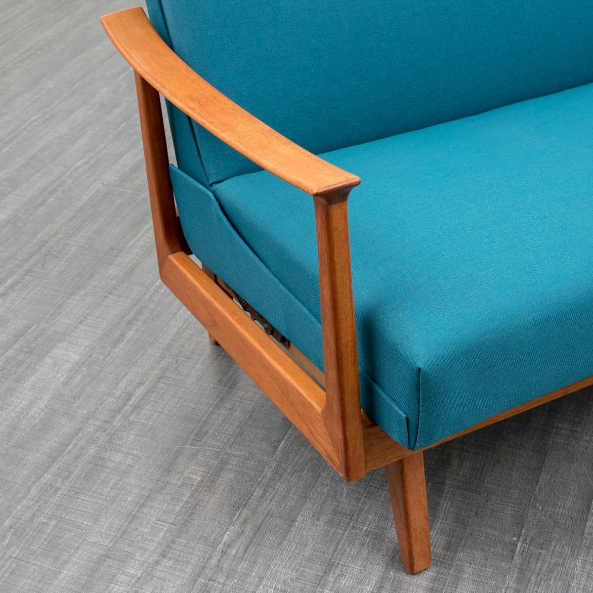 canap pliant scandinave en teck 1960s en vente sur pamono. Black Bedroom Furniture Sets. Home Design Ideas