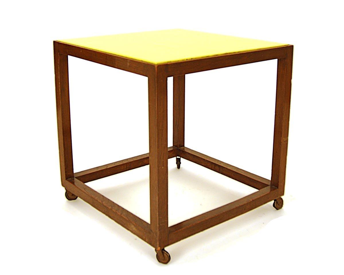 beistelltisch aus buchenholz glas 1930er bei pamono kaufen. Black Bedroom Furniture Sets. Home Design Ideas
