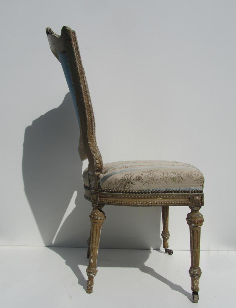 Antique Wooden Louis XVI Style Chair, 1830s - Antique Wooden Louis XVI Style Chair, 1830s For Sale At Pamono
