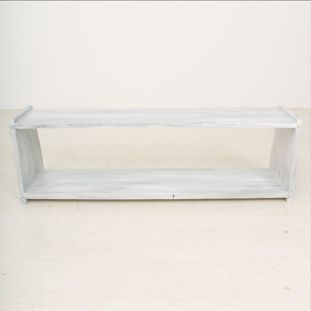 Vintage White Wooden Bench, 1930 For Sale At Pamono
