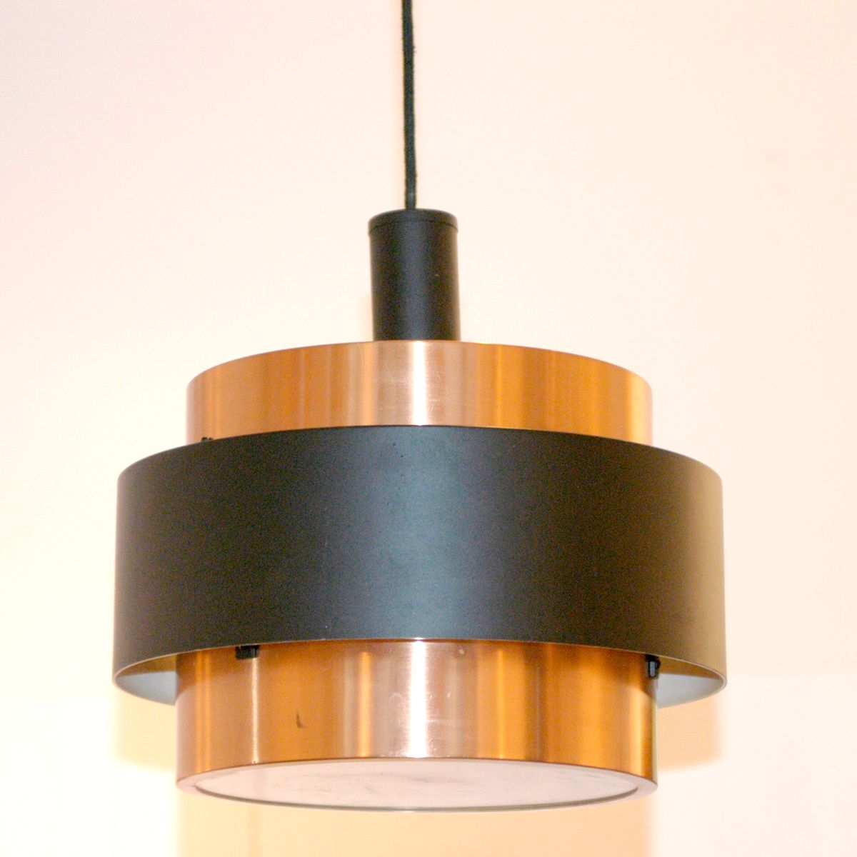 saturn copper pendant lamp by jo hammerborg for fog u0026 morup 1960s
