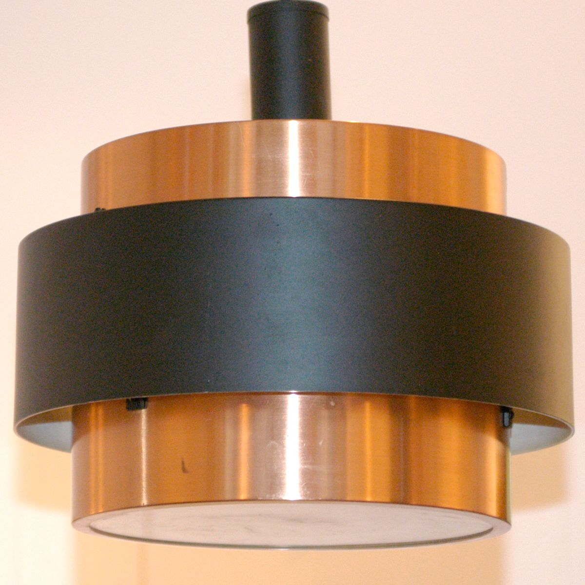 modell saturn h ngelampe aus kupfer von jo hammerborg f r. Black Bedroom Furniture Sets. Home Design Ideas