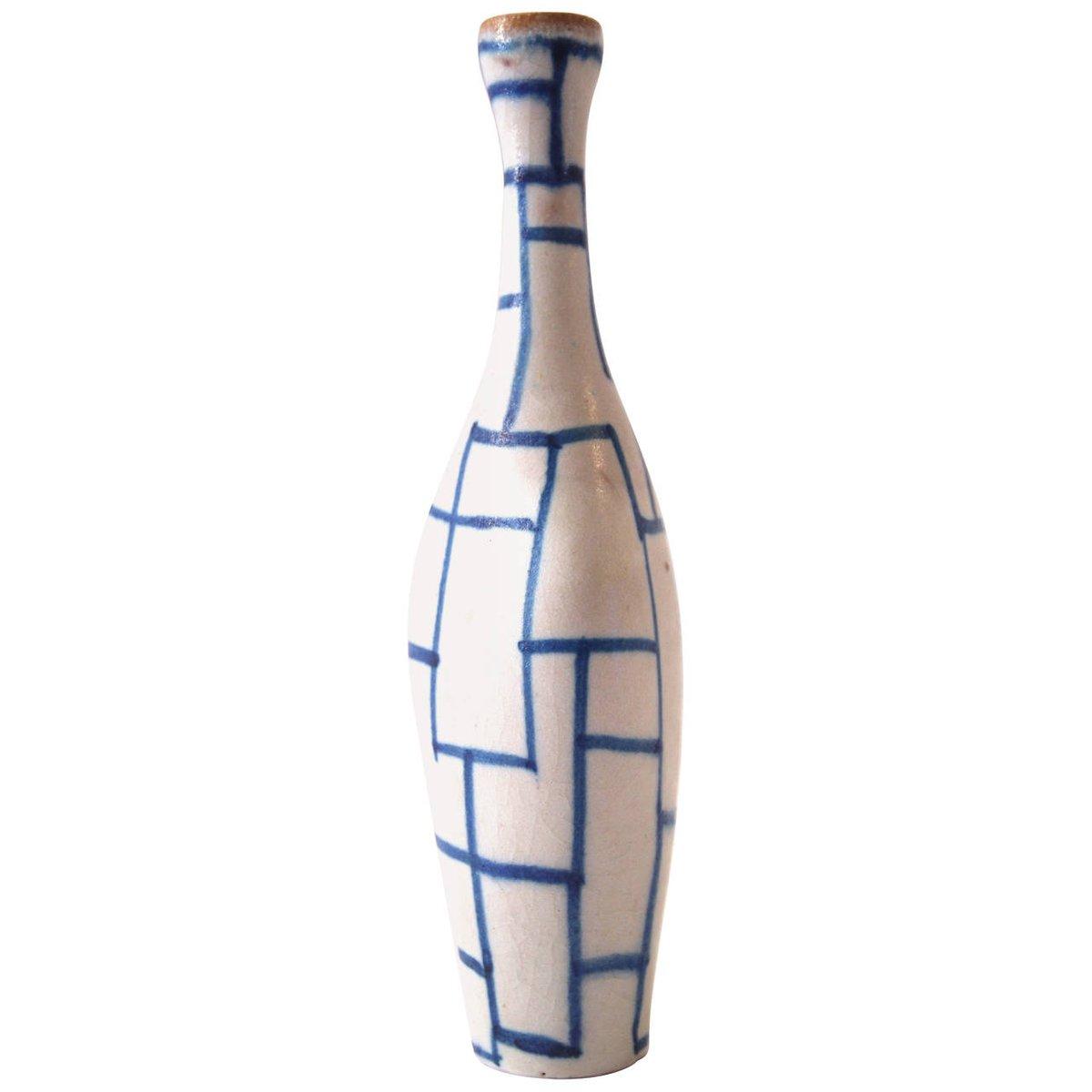 bouteille en c ramique vernis par guido gambone italie 1960s en vente sur pamono. Black Bedroom Furniture Sets. Home Design Ideas
