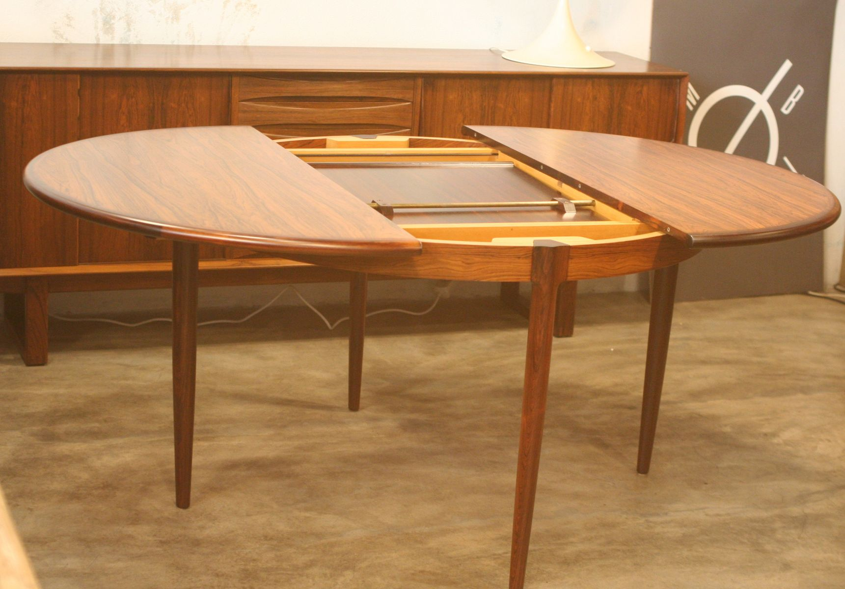 Model No 15 Round Rosewood Dining Table By Niels O