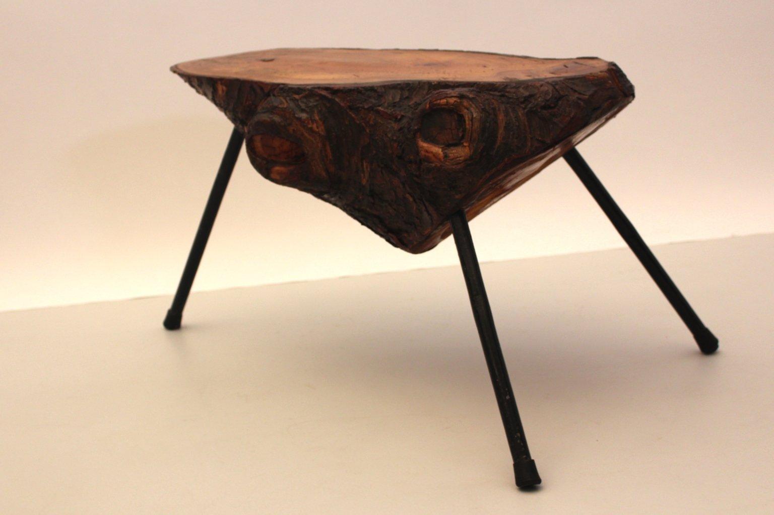 Table tronc d 39 arbre autriche 1950s en vente sur pamono - Table en tronc d arbre ...