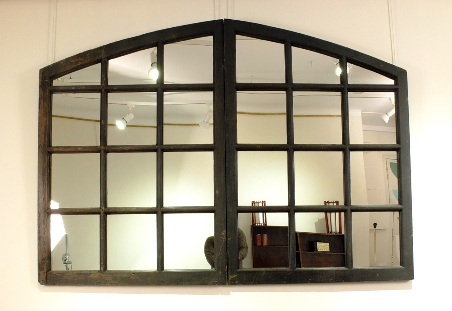Mirror with antique french window frame for sale at pamono for Miroir antique