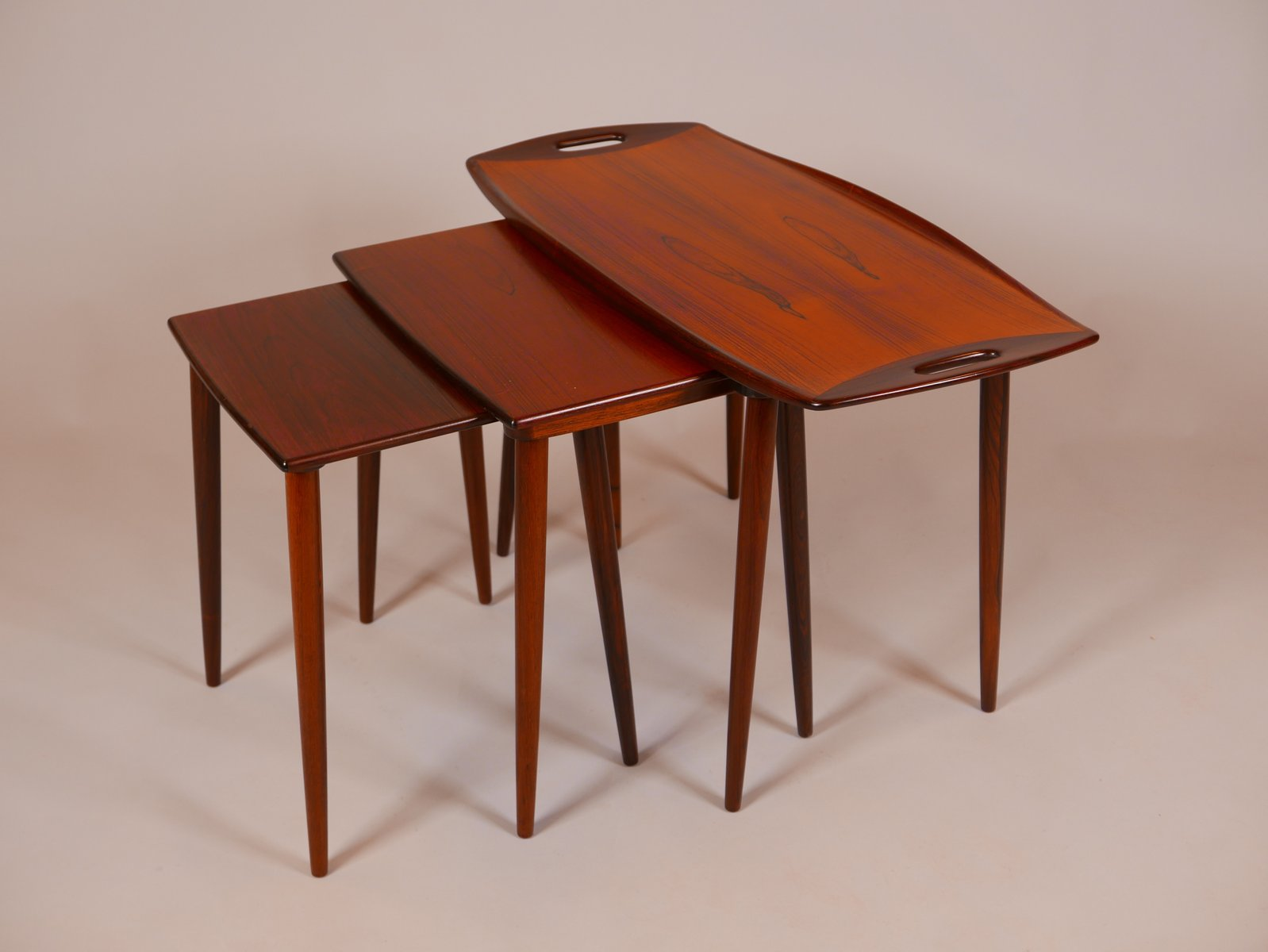 Nesting Tables Nesting Tables By Jens Quistgaard Set Of 3 For Sale At Pamono