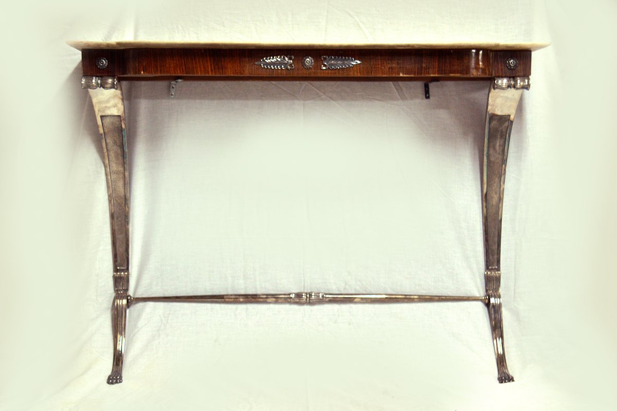 Vintage italian rosewood console table for sale at pamono vintage italian rosewood console table geotapseo Choice Image