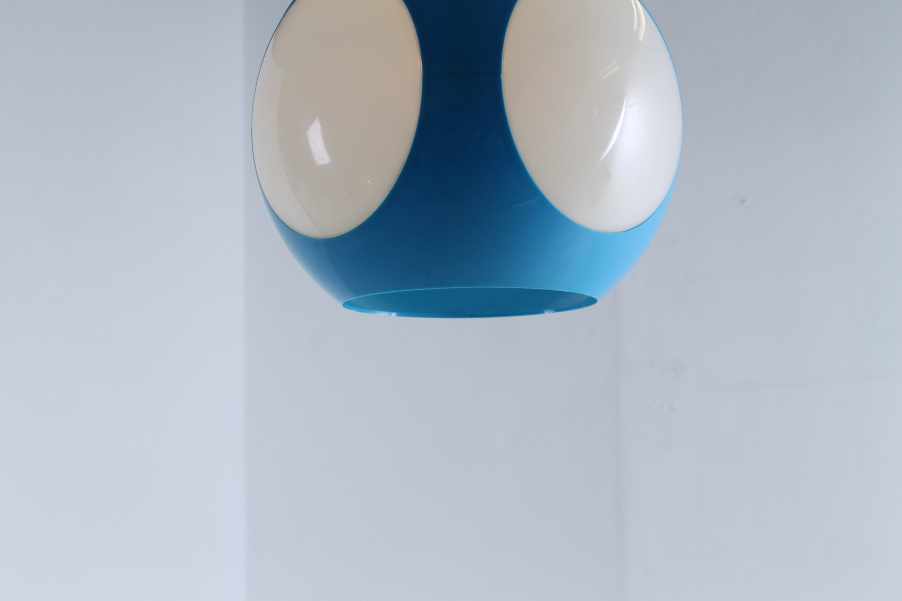 Blue German Globe Pendant Lamp by Luigi Colani for sale at Pamono