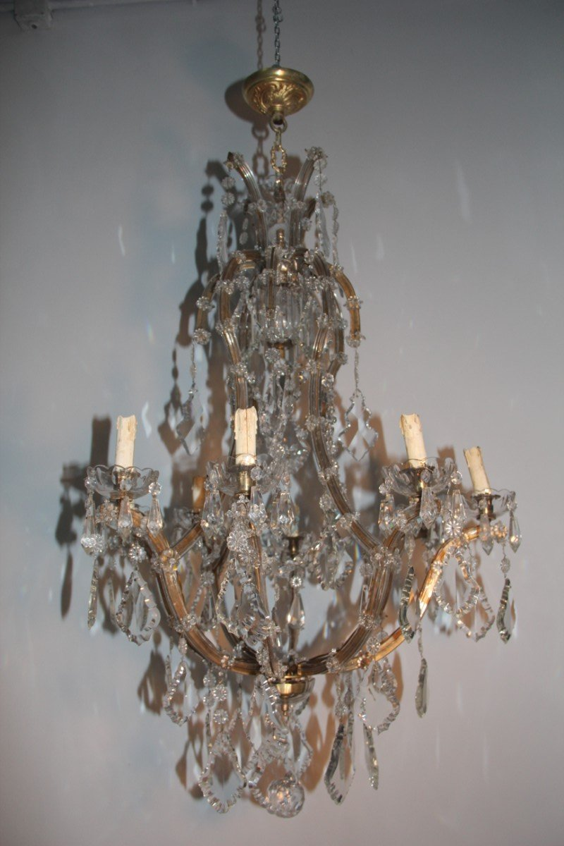 Large italian maria theresa chandelier 1920s for sale at pamono large italian maria theresa chandelier 1920s arubaitofo Choice Image