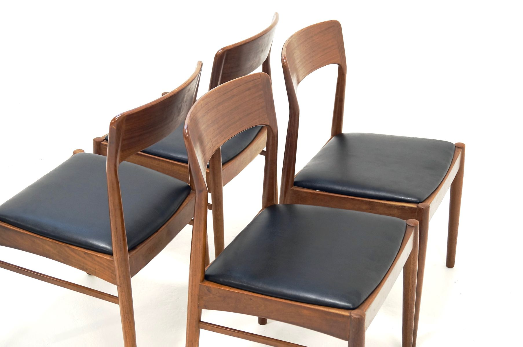 danish teak dining chairs from korup 1960s set of 4 for sale at