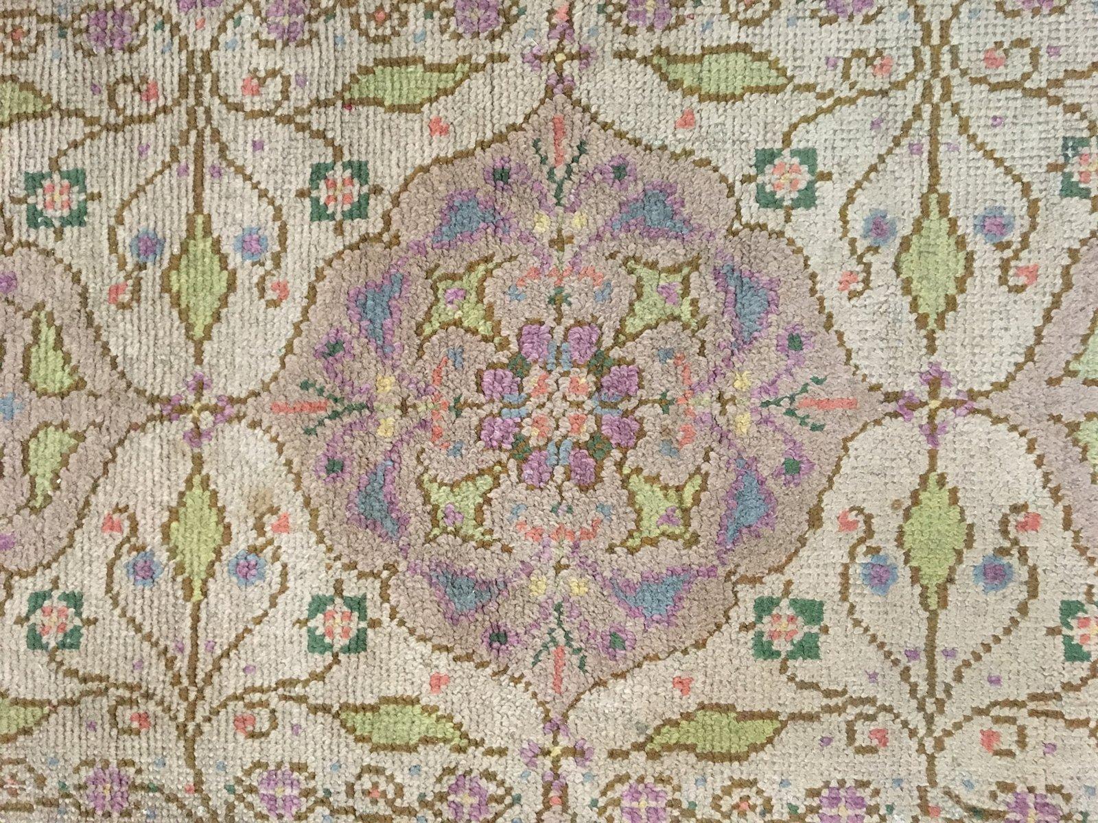 Handgewebter Niederländischer Art Nouveau Teppich mit