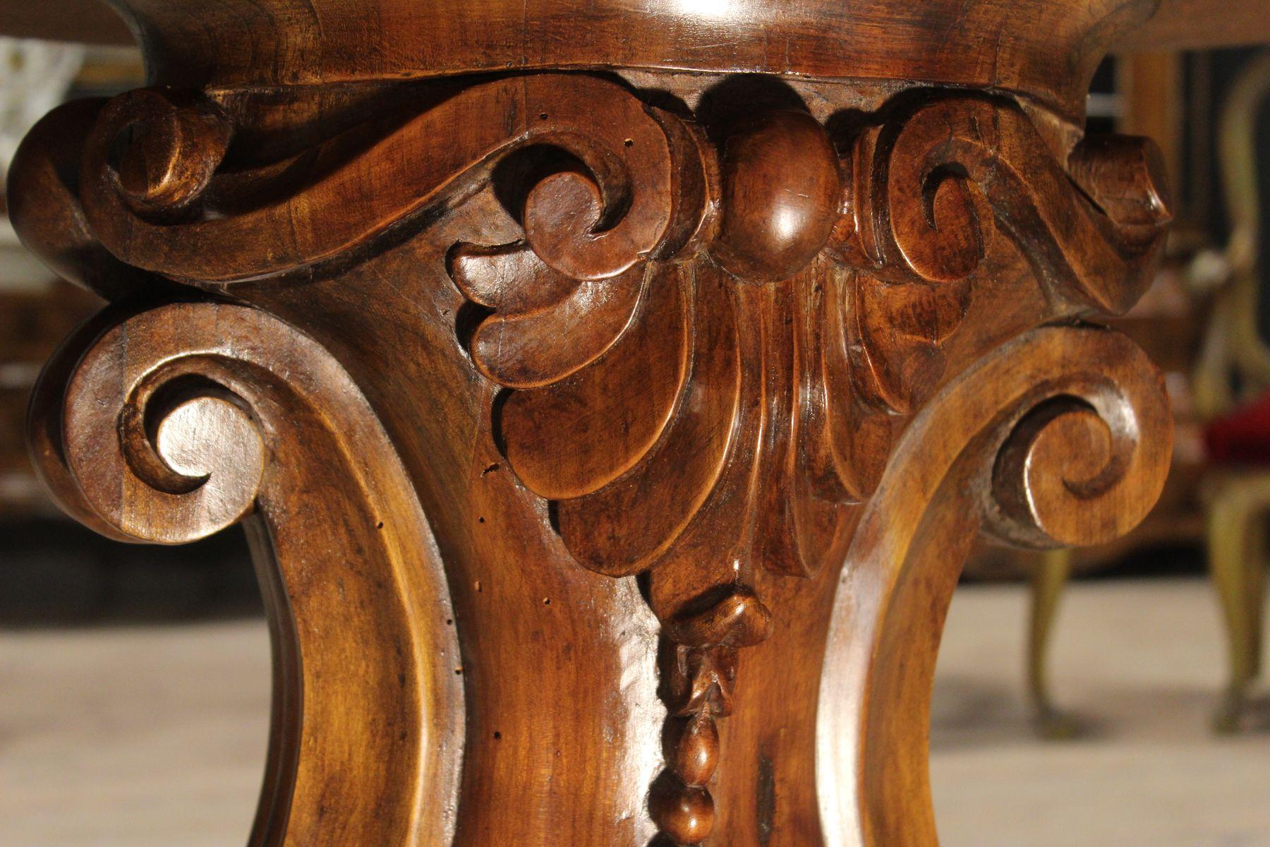 Italian Walnut Dining Table Vintage Italian Walnut And Onyx Dining Table For Sale At Pamono