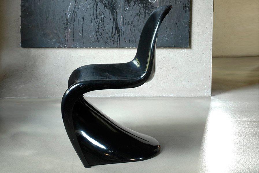 chaise d 39 appoint panton par verner panton pour herman miller and vitra 1976 en vente sur pamono. Black Bedroom Furniture Sets. Home Design Ideas