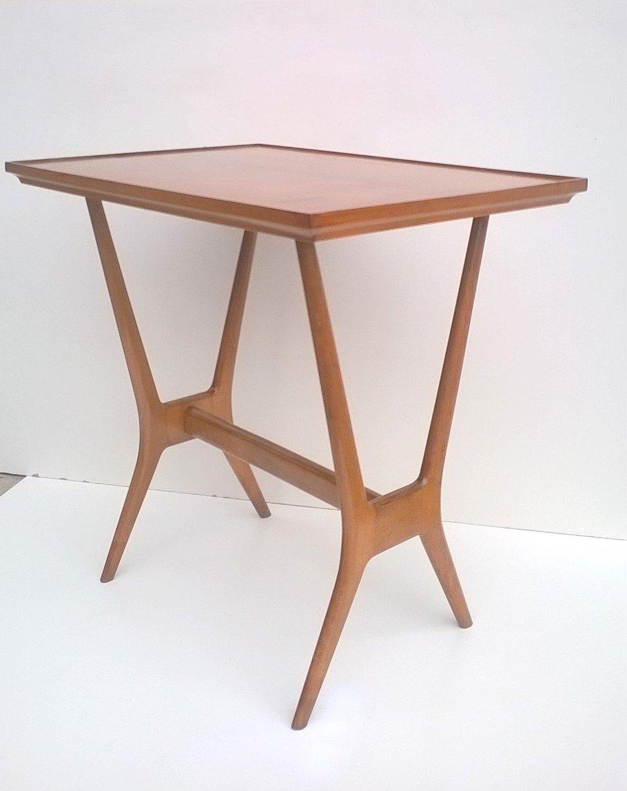 Holz beistelltisch 1950s bei pamono kaufen for Holz beistelltisch