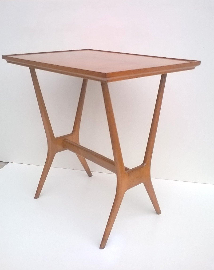 Wooden Side Table 1950s for sale at Pamono