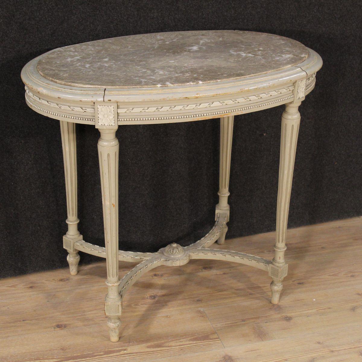 table basse de style louis xvi en bois laqu en vente sur pamono. Black Bedroom Furniture Sets. Home Design Ideas