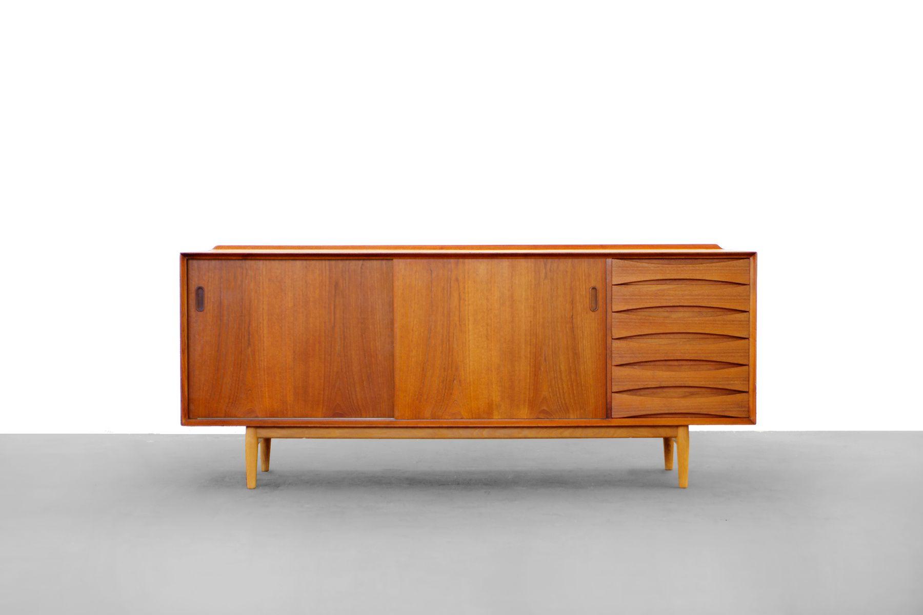 os 29 teak sideboard by arne vodder for sibast bei pamono. Black Bedroom Furniture Sets. Home Design Ideas