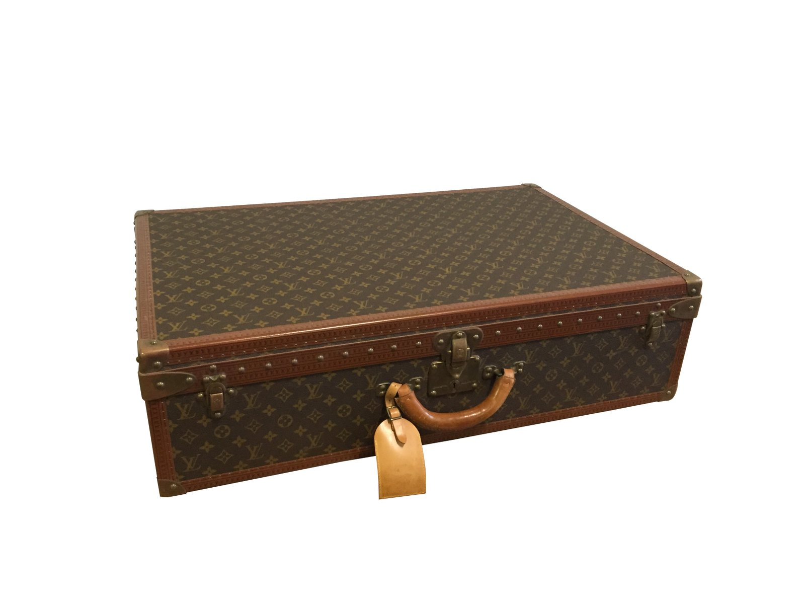 malle louis vuitton vintage en vente sur pamono. Black Bedroom Furniture Sets. Home Design Ideas