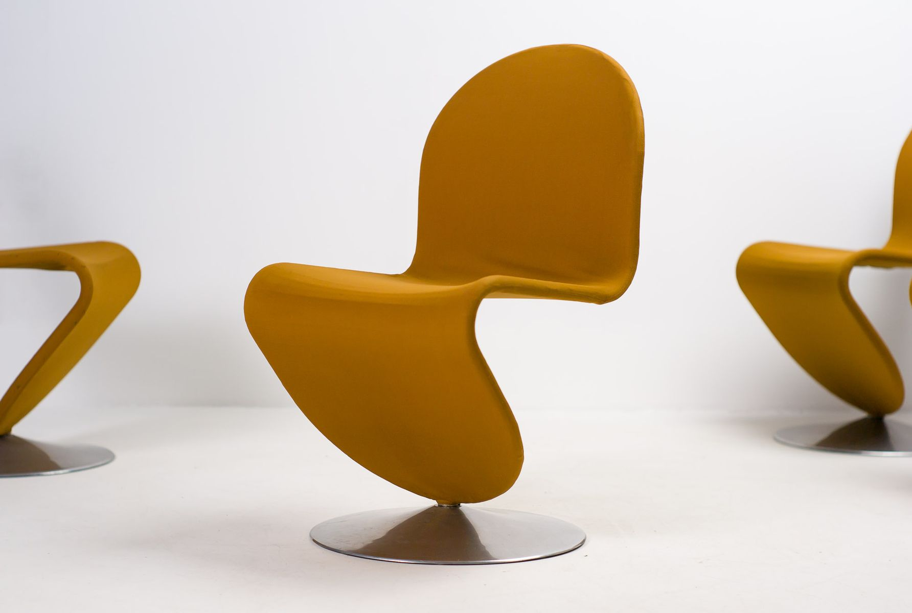 1 2 3 System Dining Chairs from Vernor Panton for Fritz Hansen