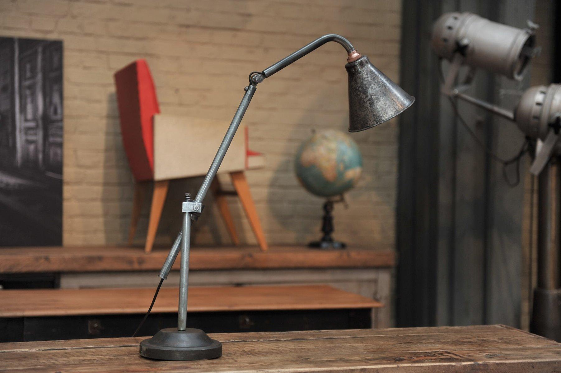 Lampe de bureau articul e industrielle france 1930s en vente sur pamono - Lampe articulee industrielle ...
