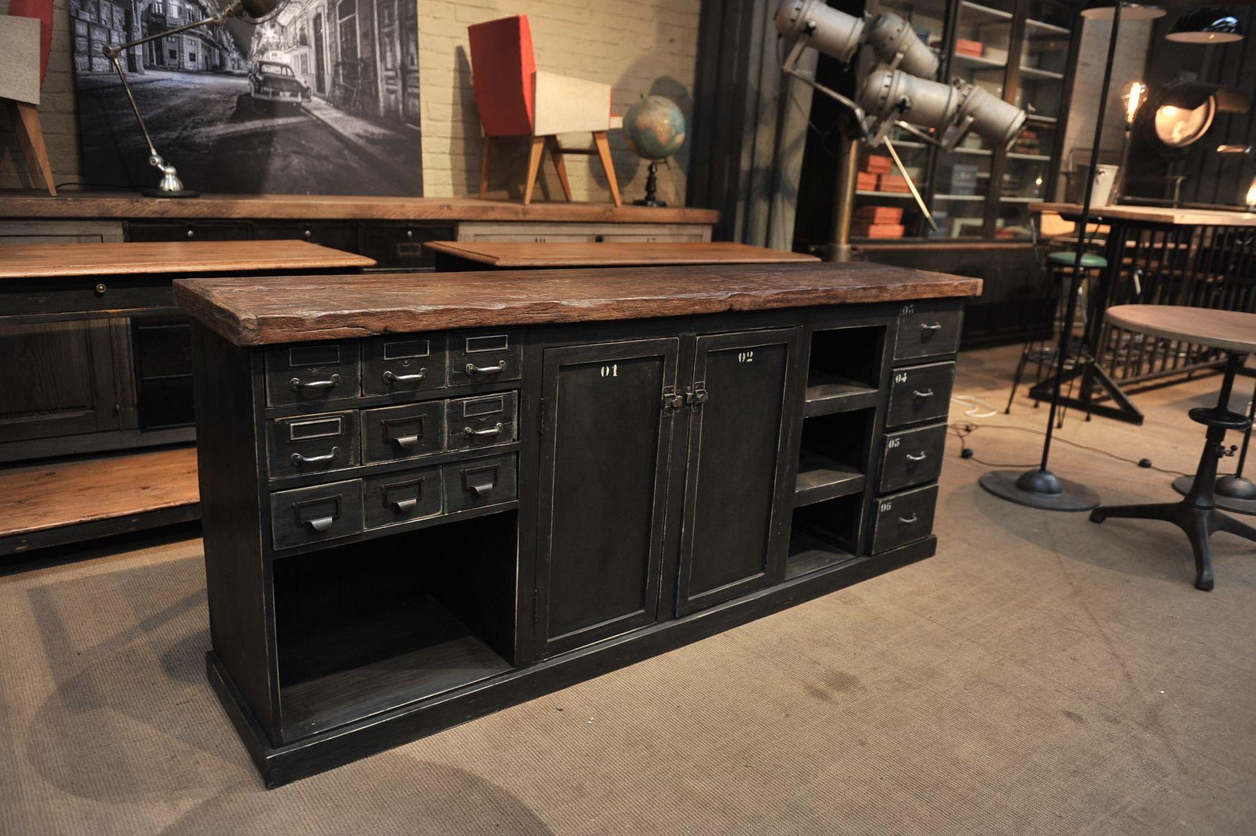 comptoir de magasin industriel france 1950s en vente sur. Black Bedroom Furniture Sets. Home Design Ideas