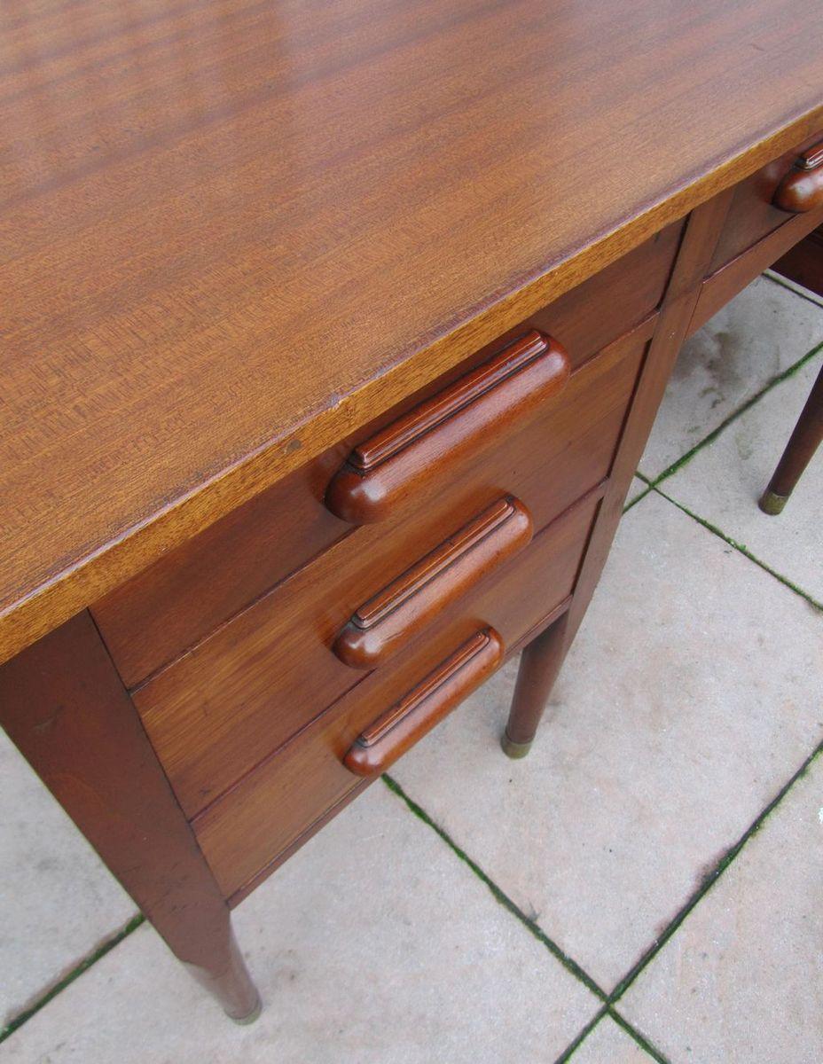 mid century mahagoni schreibtisch 1950er bei pamono kaufen. Black Bedroom Furniture Sets. Home Design Ideas