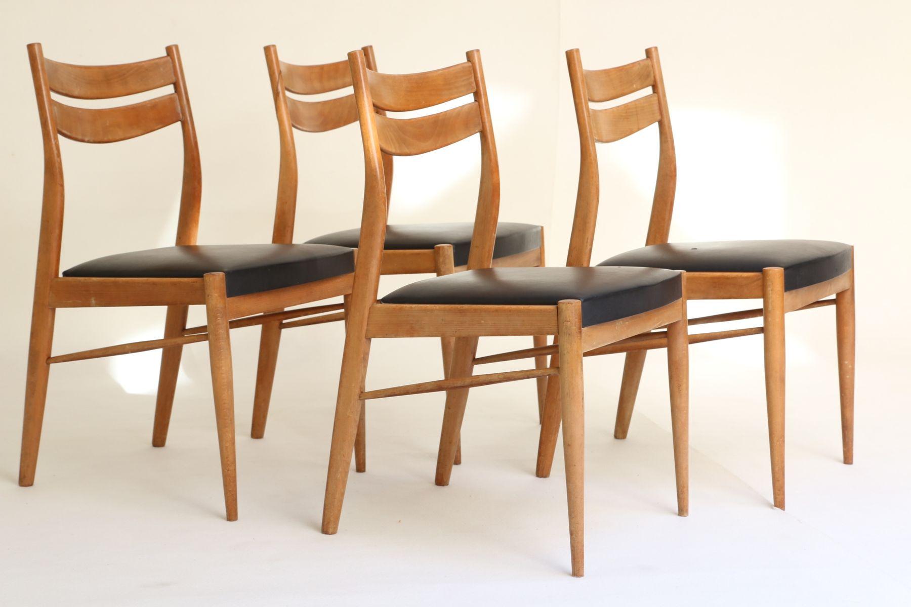 Belgian Vintage Chairs by Oswald Vermaercke for Vform 1960s Set