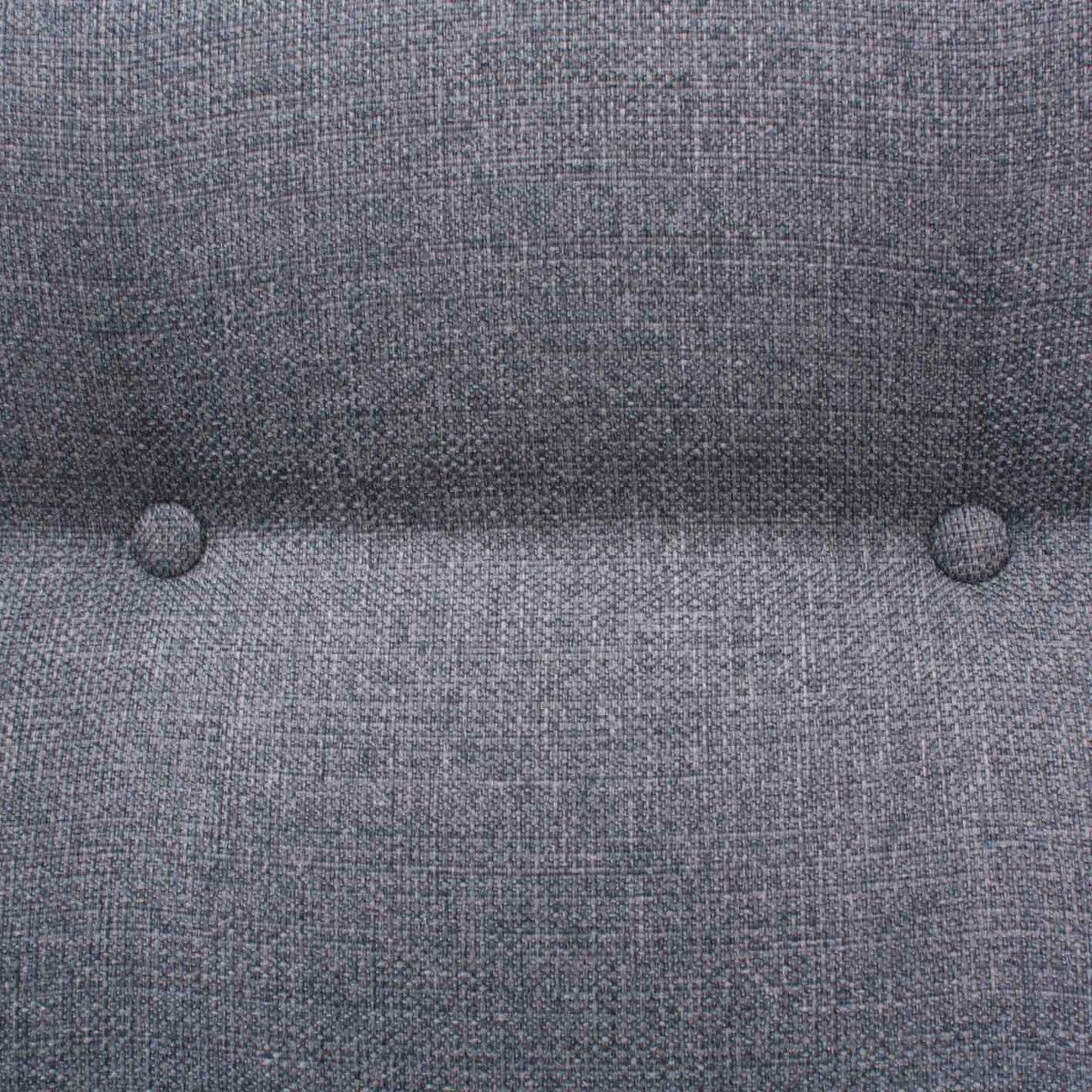 Canap en teck avec tissu gris clair 1960s en vente sur - Canape tissu gris clair ...