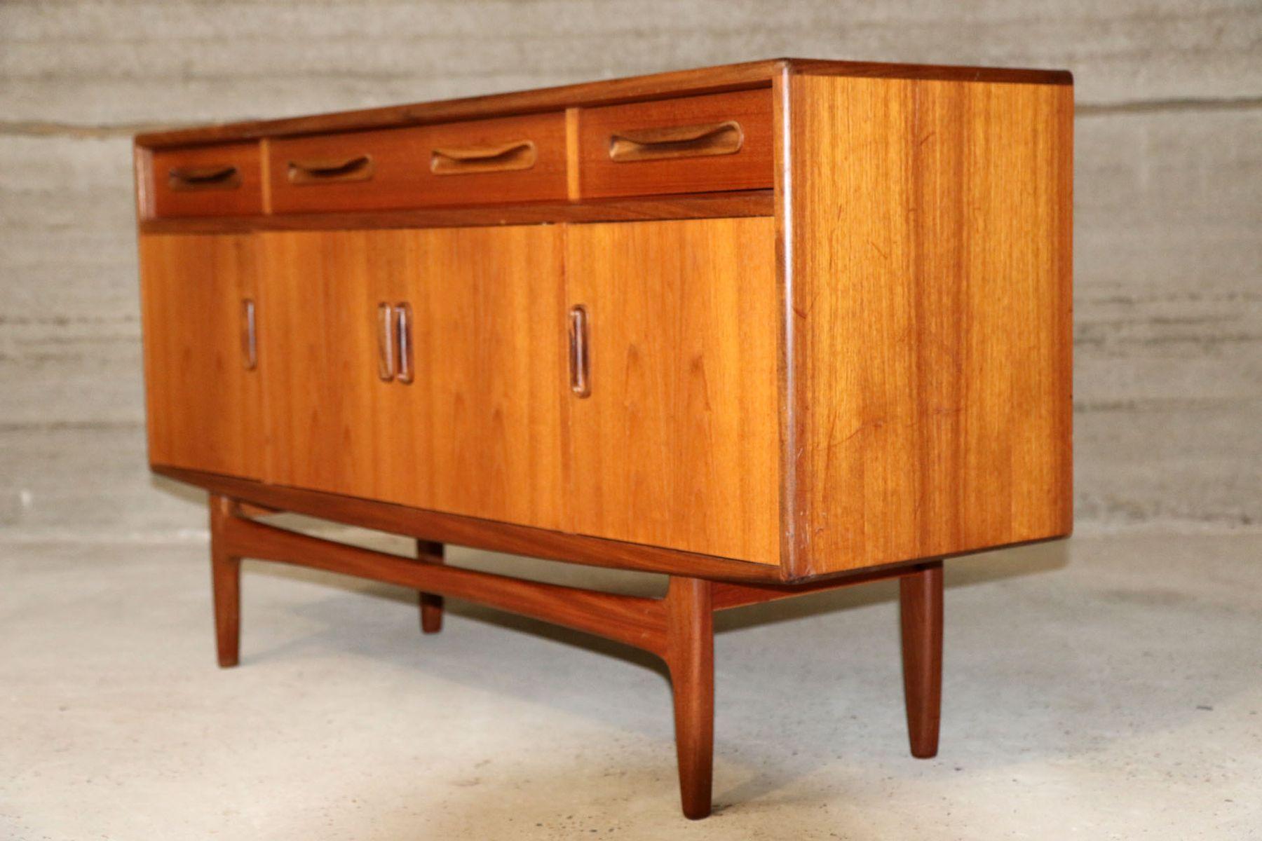 midcenutry sideboard mit drei schubladen 1960er bei. Black Bedroom Furniture Sets. Home Design Ideas