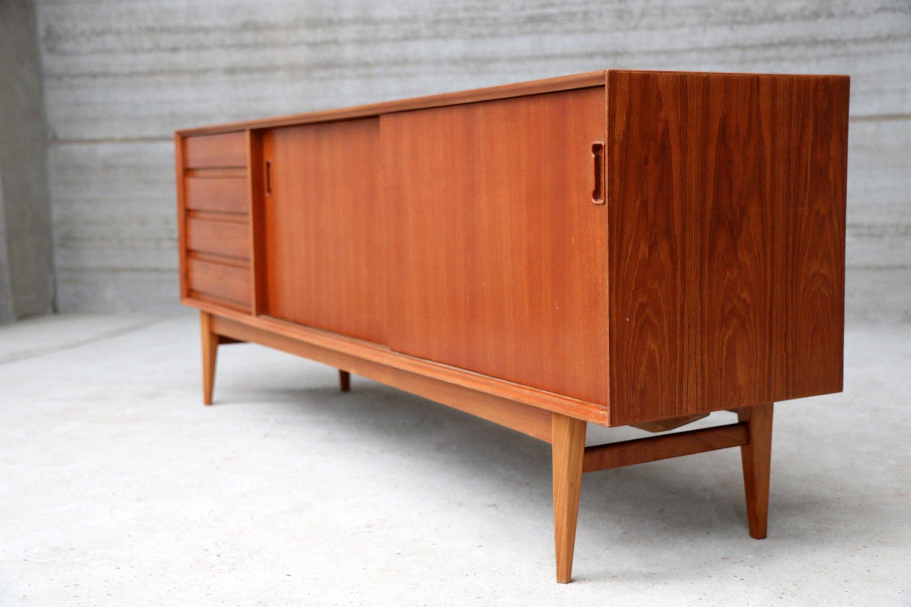 franz sisches sideboard mit schiebet ren aus holz bei. Black Bedroom Furniture Sets. Home Design Ideas