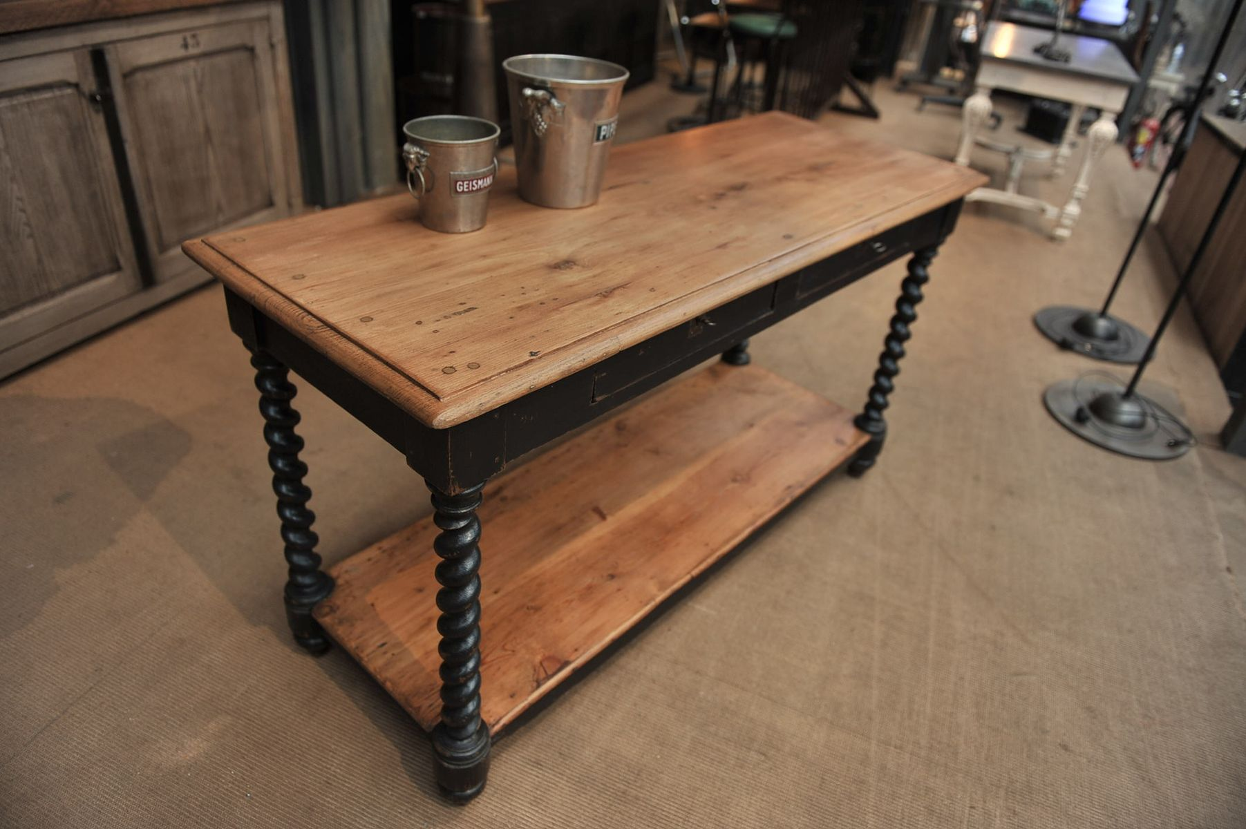 Table console de drapier 1900s en vente sur pamono - Console de table ...