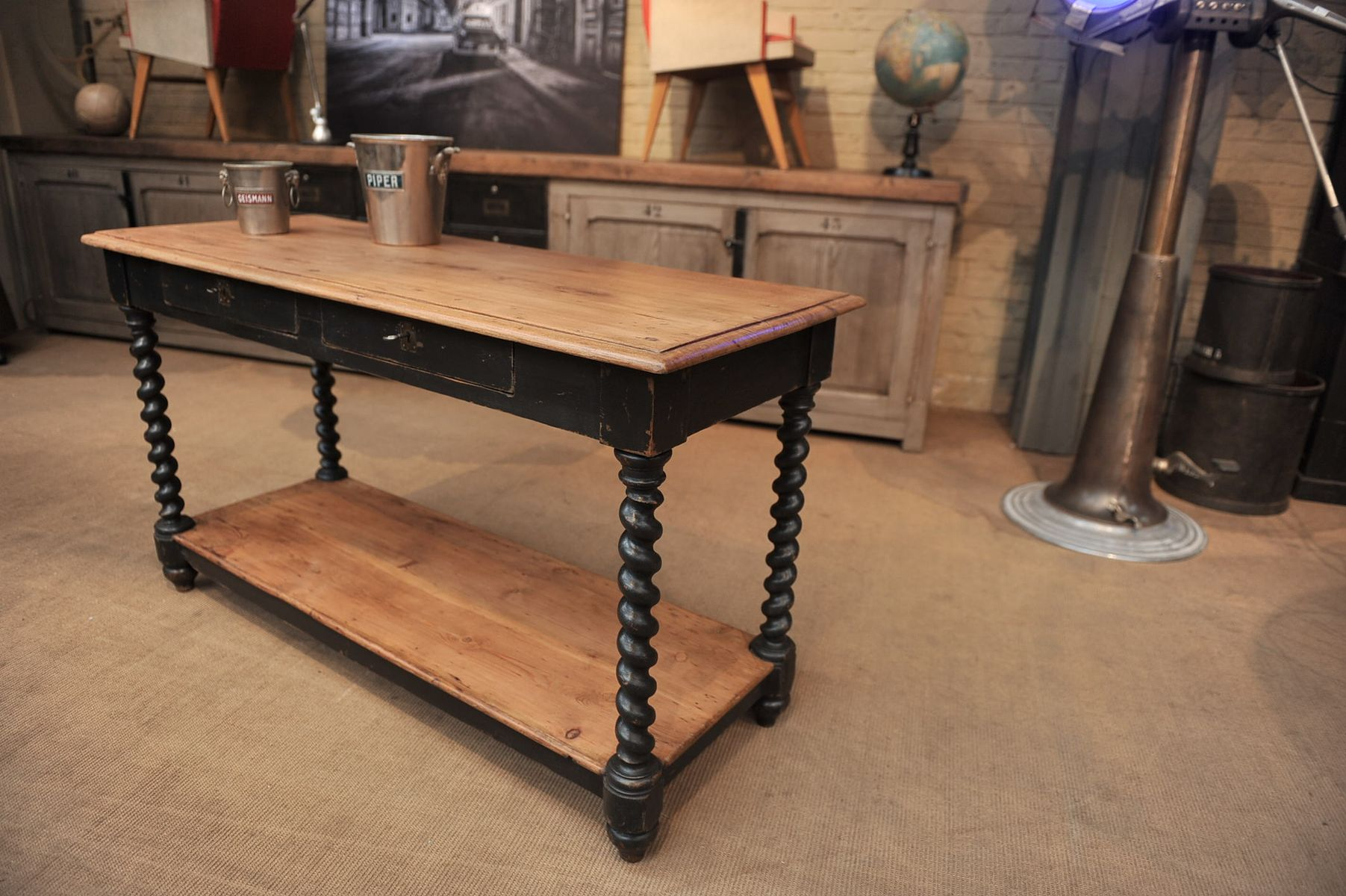 table console de drapier 1900s en vente sur pamono. Black Bedroom Furniture Sets. Home Design Ideas