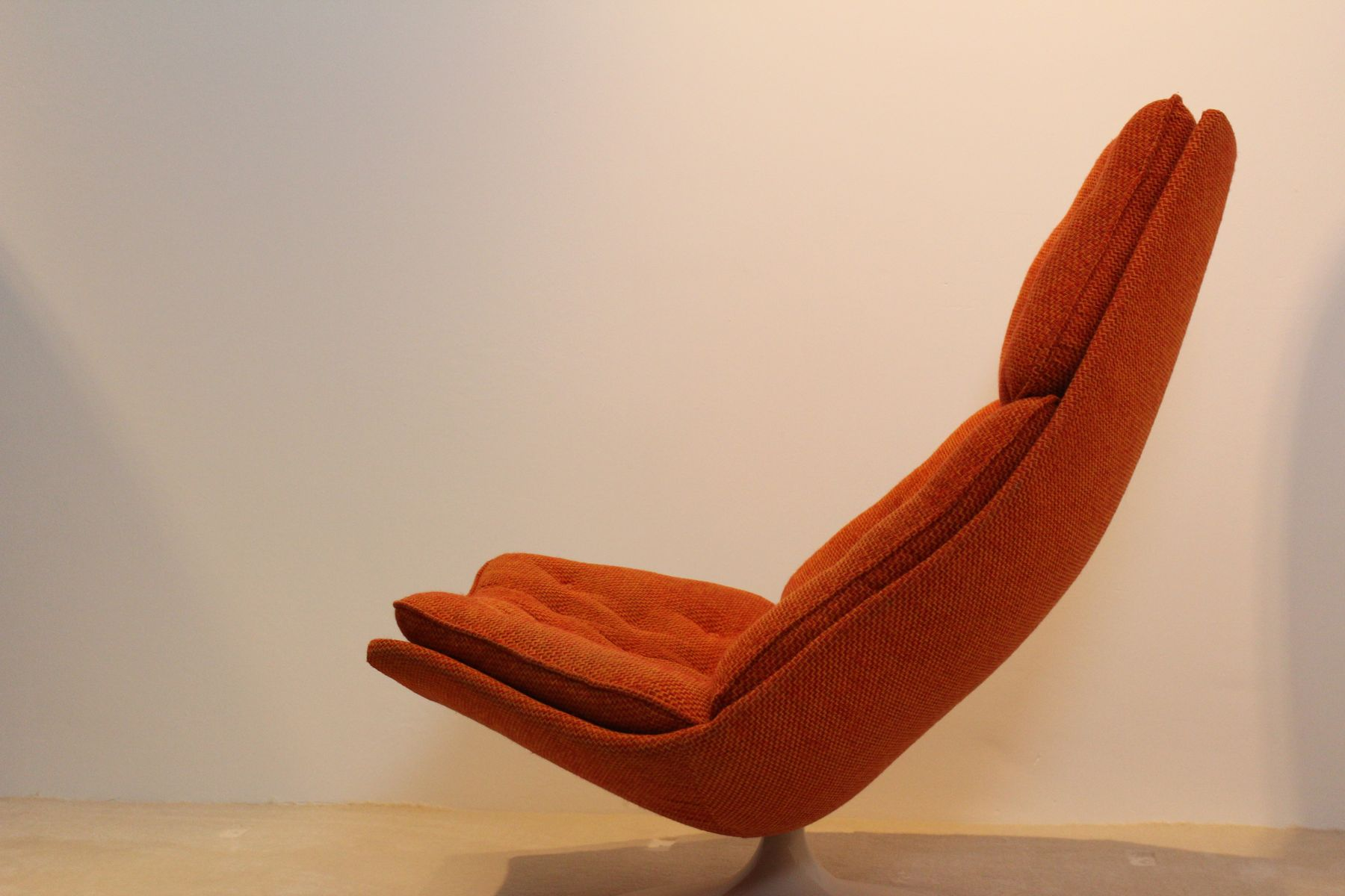 fauteuil pivotant f590 par geoffrey harcourt pour artifort 1960s en vente sur pamono. Black Bedroom Furniture Sets. Home Design Ideas