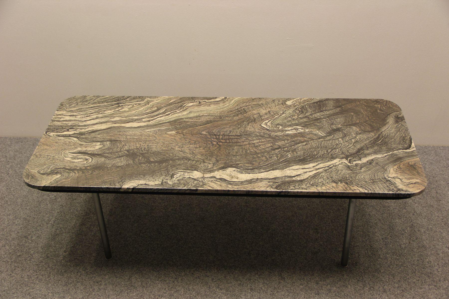 Couchtisch mit Marmorplatte von Hans J Wegner für Andreas