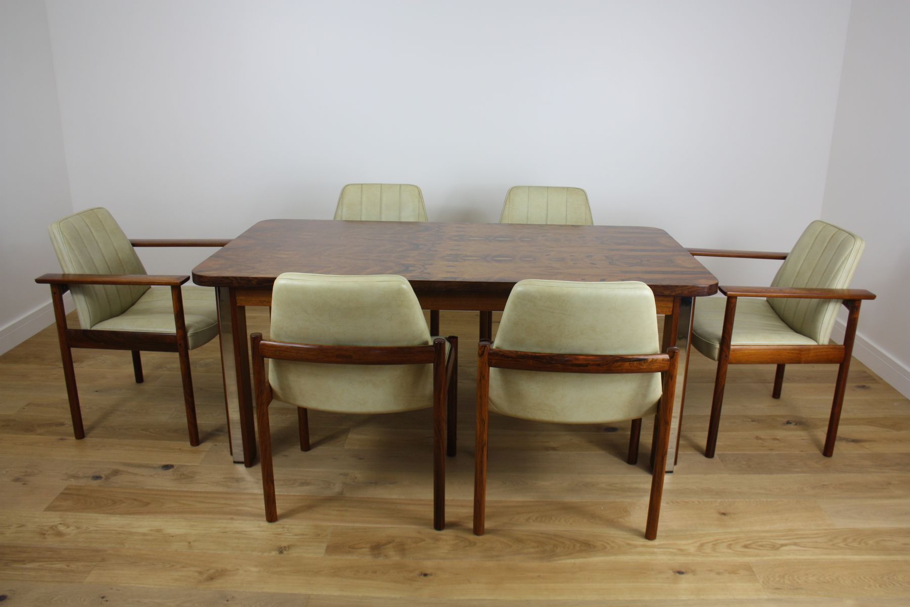 midcentury rosewood dining set by sven ivar dysthe for moble