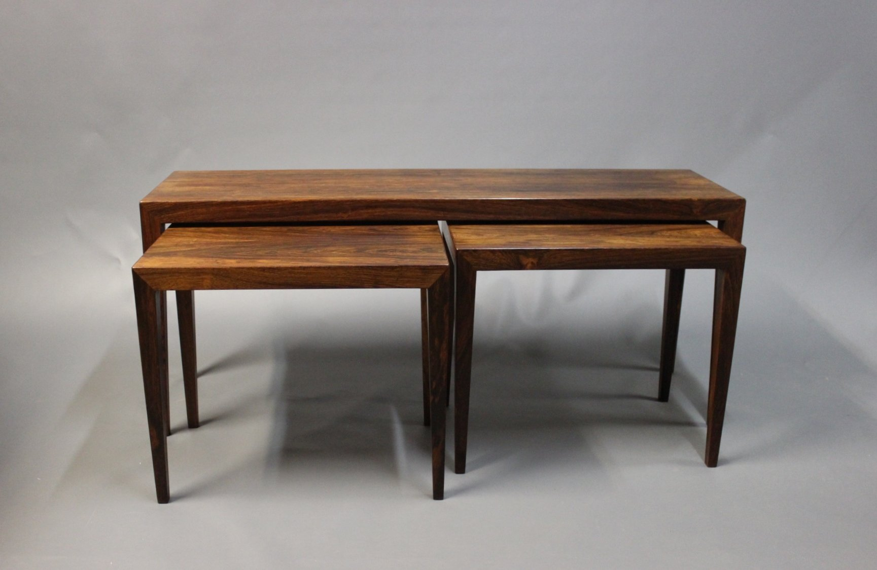Rosewood Nesting Tables by Severin Hansen for Haslev 1960s Set