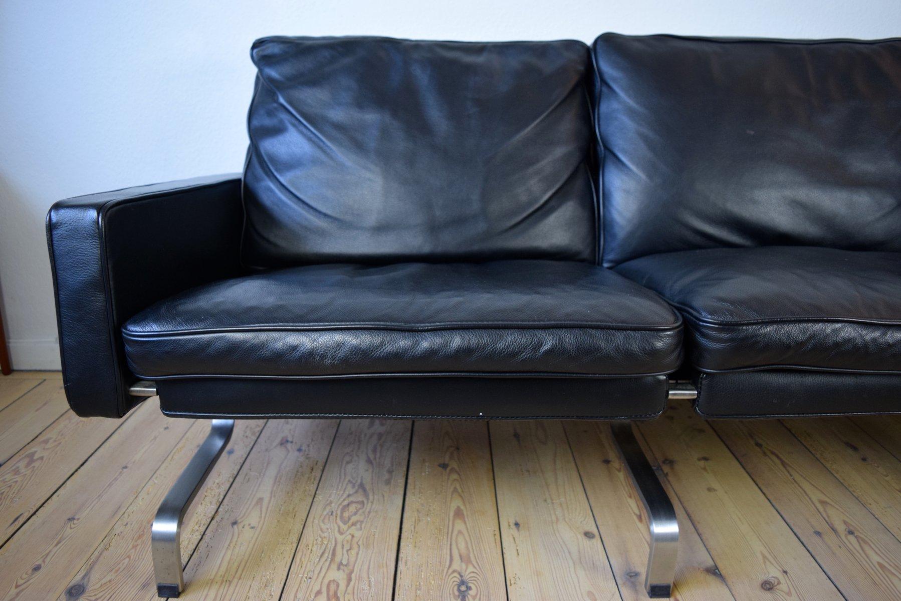 danish modern leather sofa for sale at pamono