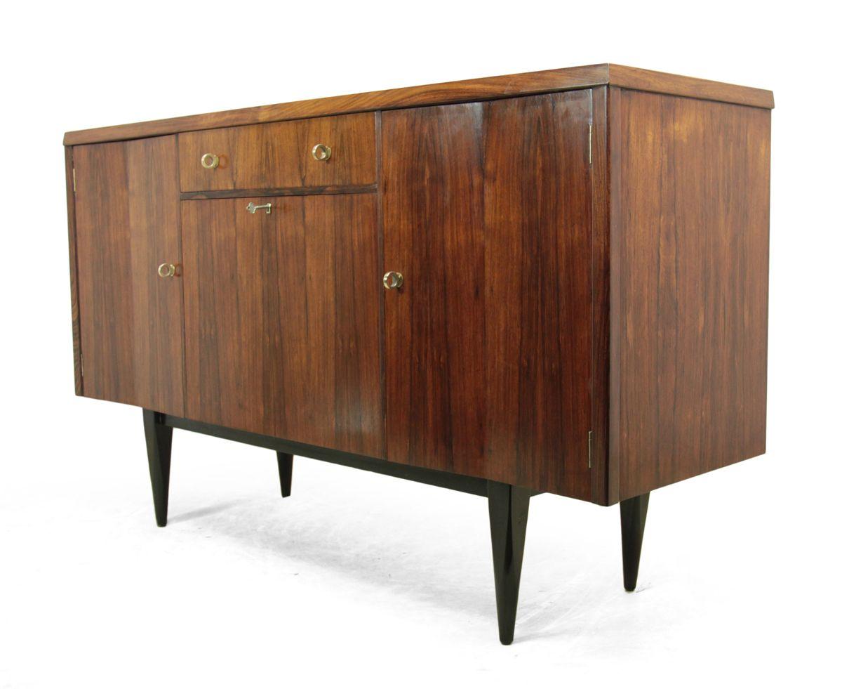 mid century palisander sideboard mit barschrank 1960er. Black Bedroom Furniture Sets. Home Design Ideas