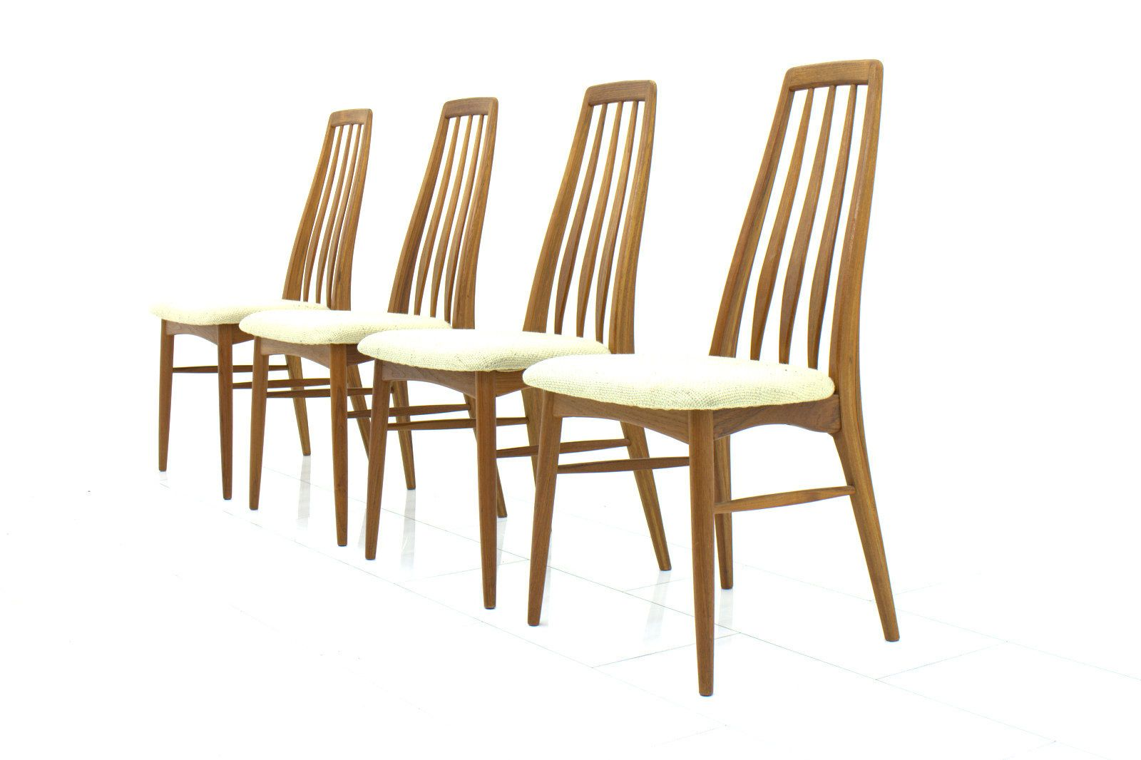 Eva Teak Dining Chairs By Niels Koefoed For Hornslet 1960s Set Of 4 For Sal