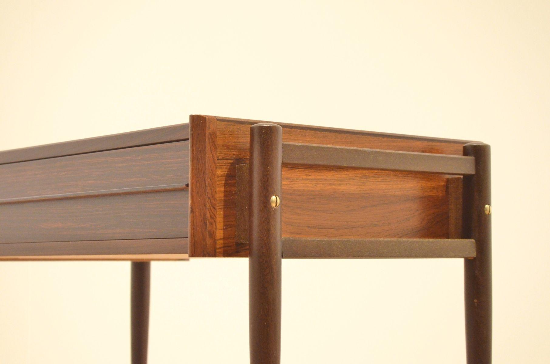 d nischer mid century beistelltisch auf rollen aus. Black Bedroom Furniture Sets. Home Design Ideas