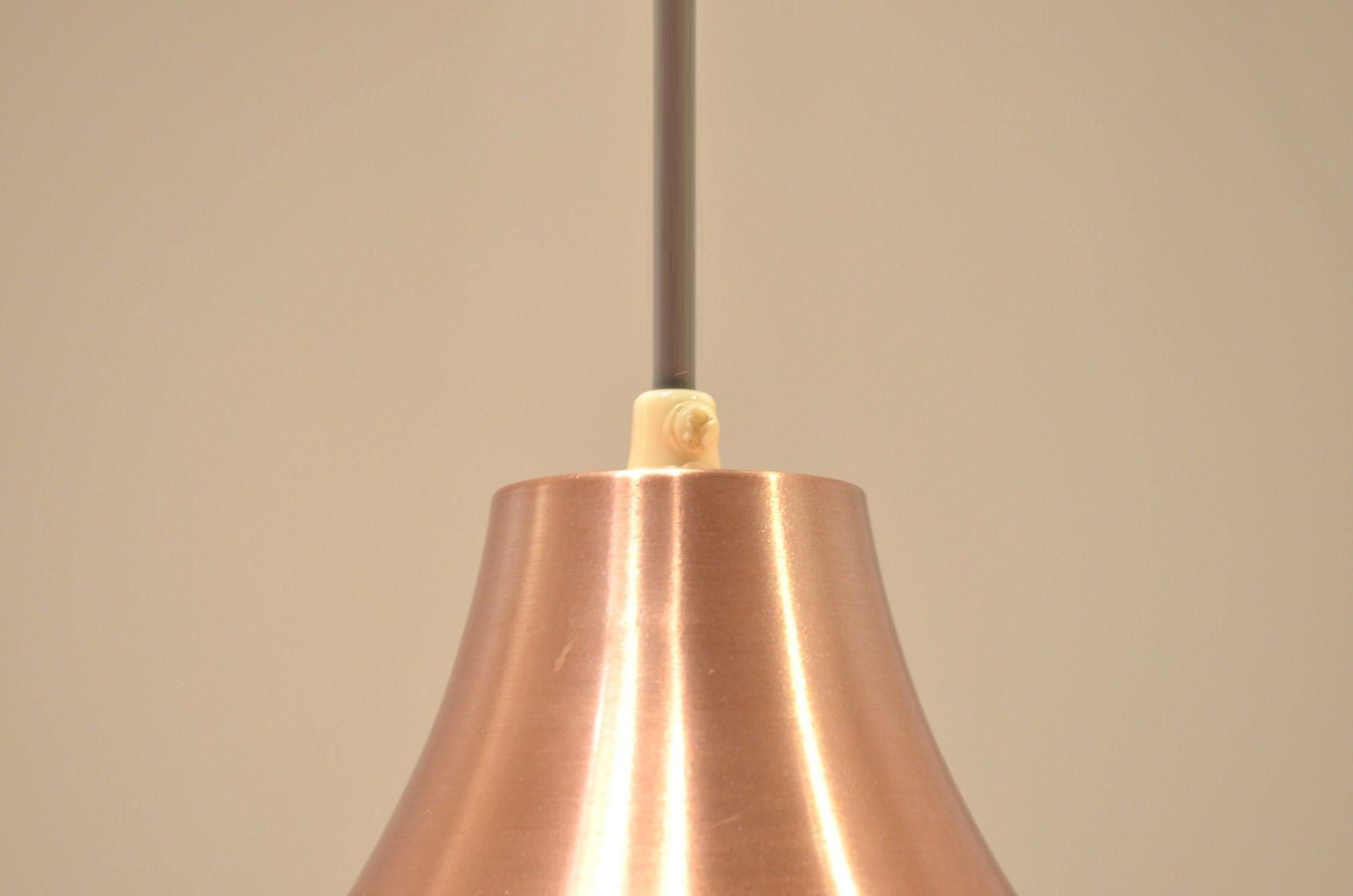 lampe suspension multiple rose en lamelle de cuivre danemark en vente sur pamono. Black Bedroom Furniture Sets. Home Design Ideas