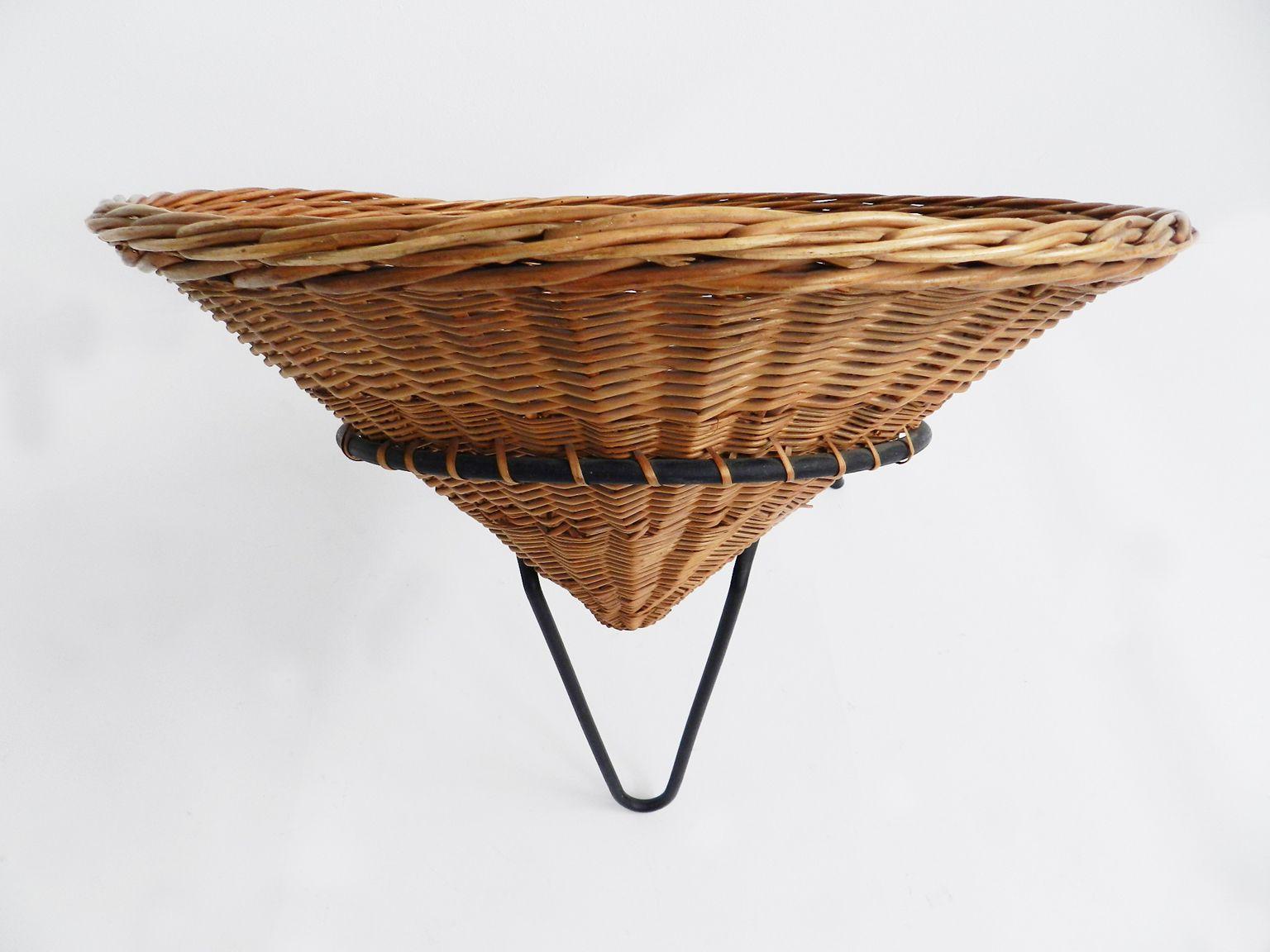 Chaise de Jardin en Rotin, Italie en vente sur Pamono