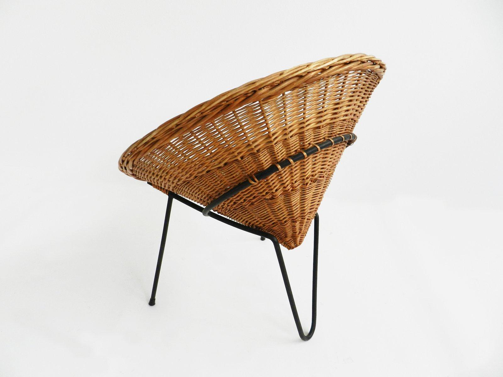 italienischer gartenstuhl aus rattan bei pamono kaufen. Black Bedroom Furniture Sets. Home Design Ideas