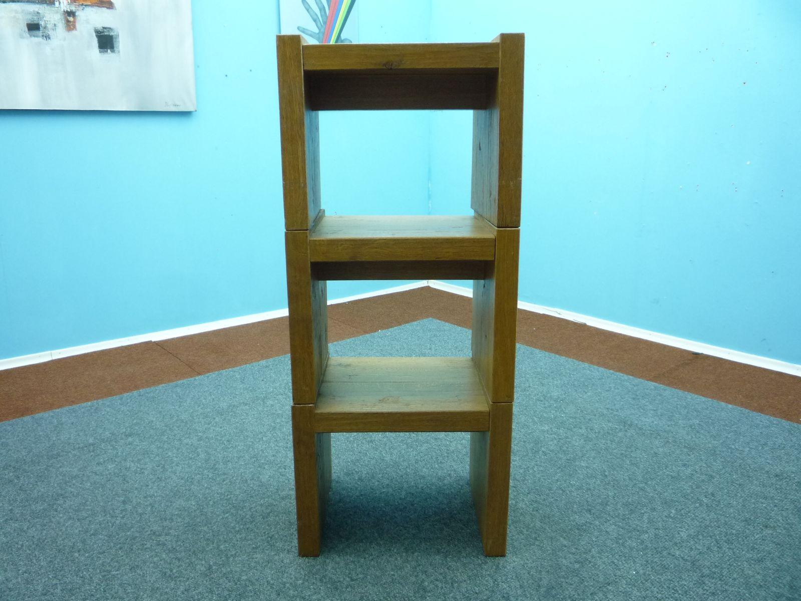 w rfelf rmige bauhaus stil hocker 3er set bei pamono kaufen. Black Bedroom Furniture Sets. Home Design Ideas