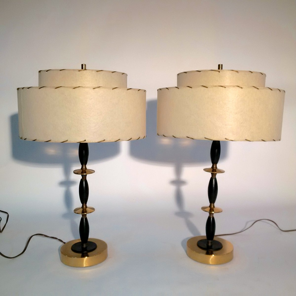 Mid century modern atomic table lamps 1950s set of 2 for for Z gallerie century table lamp