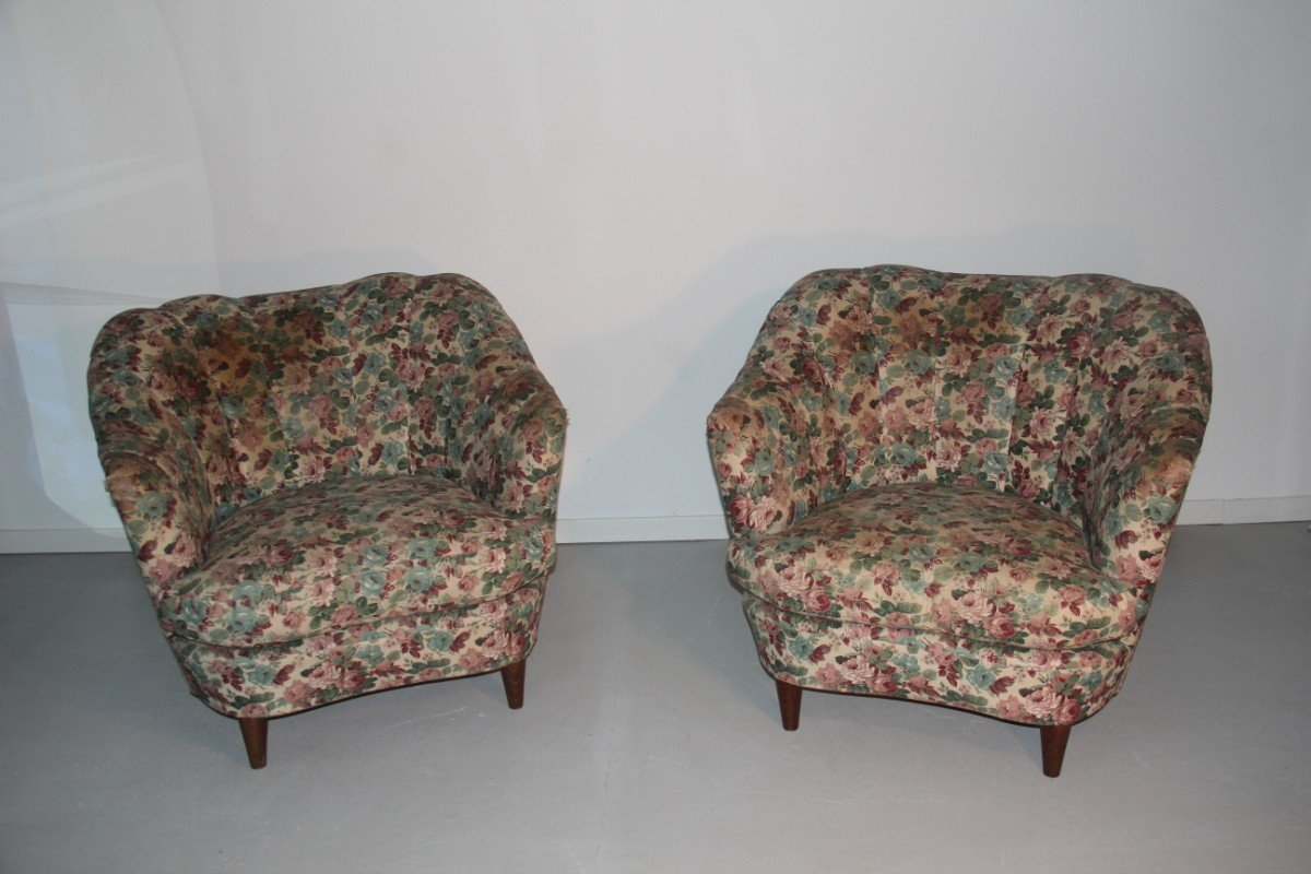 Italian floral armchairs 1950 set of 2 for sale at pamono for 2 armchairs for sale
