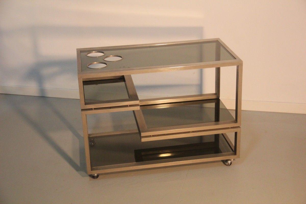 italienischer serviertisch auf rollen bei pamono kaufen. Black Bedroom Furniture Sets. Home Design Ideas