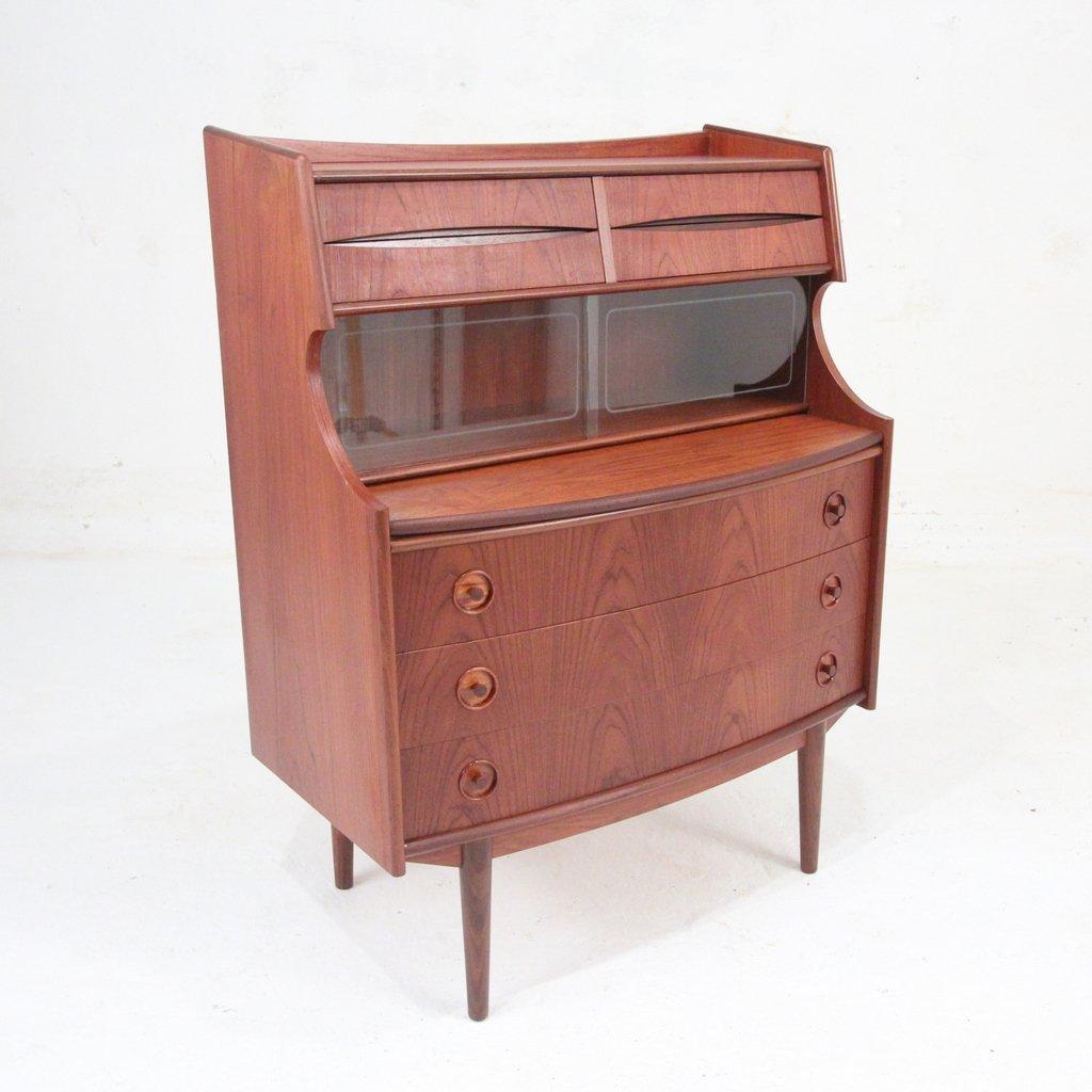 Danish teak bureau for sale at pamono for Bureau for sale