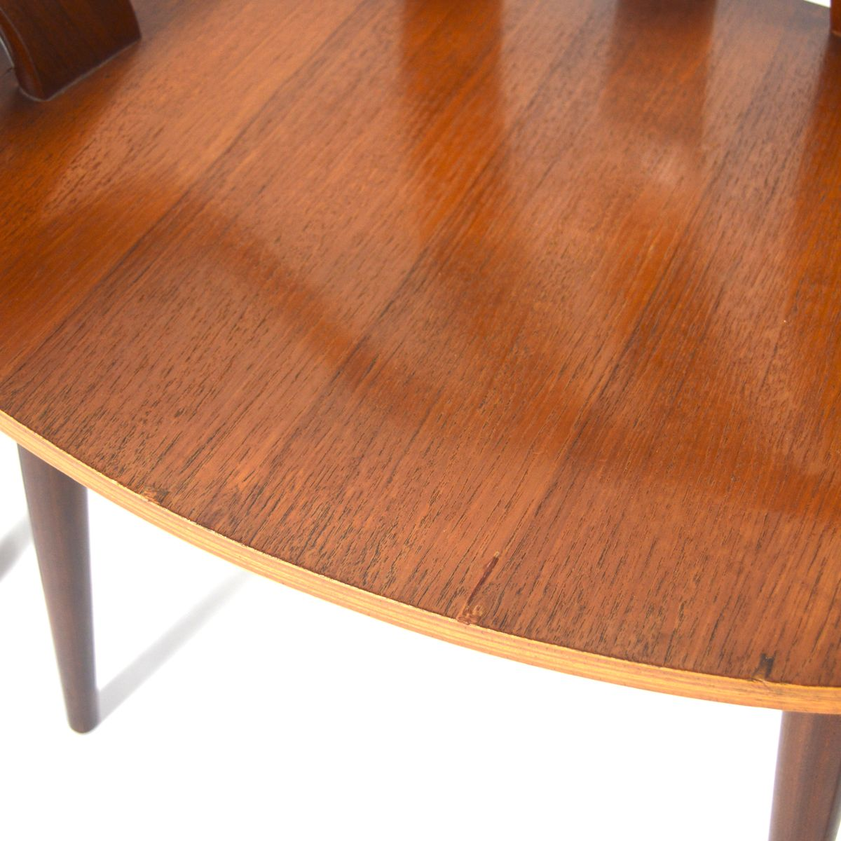 Teak plywood dining chairs set of for sale at pamono